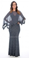 Decode 1.8 V-Shape Lace Evening Dress with Pop Over Cape