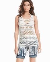 White House Black Market Sleeveless Fringe Pullover Sweater