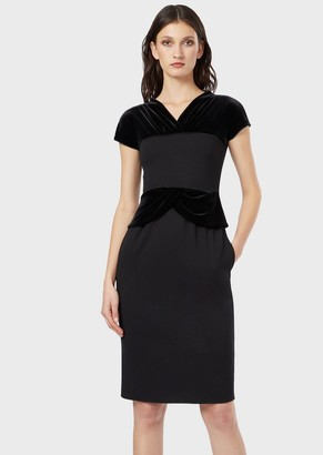Giorgio Armani Dress With Velvet Bodice