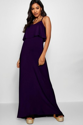 boohoo Tie Back Maxi Dress