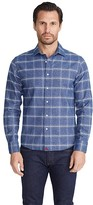 Untuckit UNTUCKit Heavyweight Flannel Brignole Shirt (Blue/White) Men's Clothing