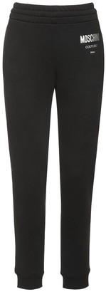 Moschino Logo Cotton Jersey Track Pants