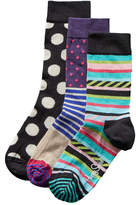 Happy Socks Set Of 3 Crew Socks