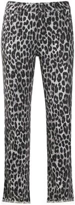 MICHAEL Michael Kors cheetah pattern cropped trousers
