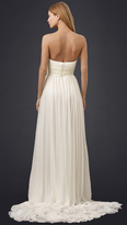 Marchesa Grecian Strapless Sweetheart Gown