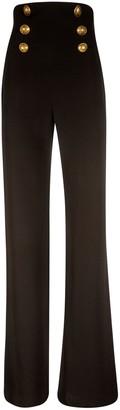 Balmain Rear Zip Flared Trousers