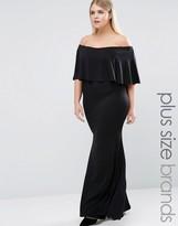 Club L Plus Essentials Maxi Dress With Overlay