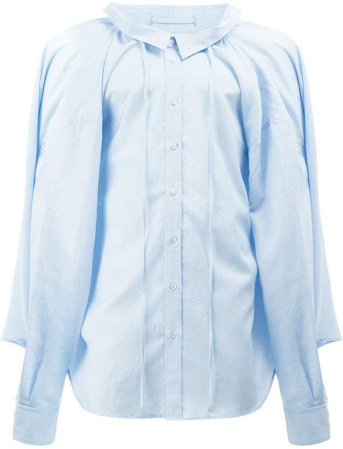 Y/Project Y / Project drawstring button-down shirt