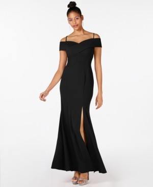 Night Way Nightway Cold Shoulder Gown