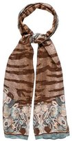 Fendi Floral Printed Silk Scarf