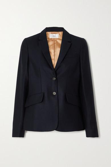 Victoria Victoria Beckham Wool-twill Blazer - Midnight blue
