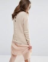 Miss Selfridge Lattice Detail Sweater