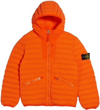 Stone Island Channel Quilted Down Jacket, Size 8-10