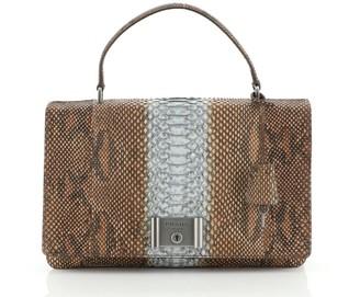 Prada Flap Top Handle Bag Python Medium