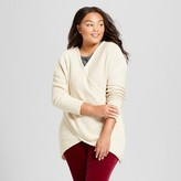 Notations Women's Plus Size Drapey Cross-Front Pullover Sweater