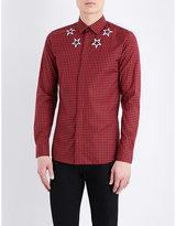 Givenchy Plaid Star-print Cotton Shirt