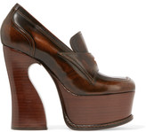 Maison Margiela Glossed-leather Platform Pumps - Brown