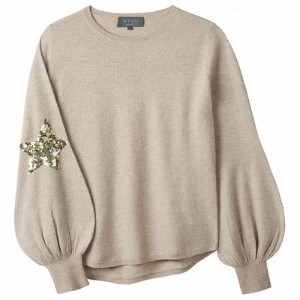 Wyse - Flo Sequin Star Bell Sleeve Knit - 2/ UK10-12