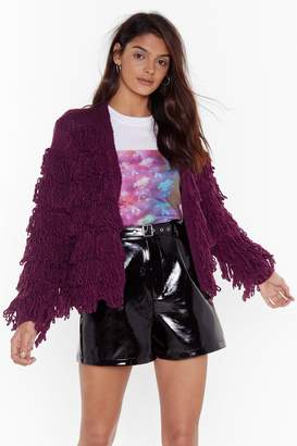 Nasty Gal Womens Gimme More Shaggy Cardigan - red - S
