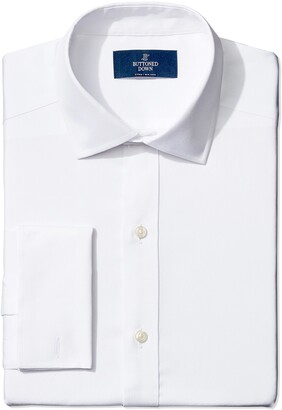 Buttoned Down Amazon Brand Men's Fitted French Cuff Spread-Collar Non-Iron Dress Shirt