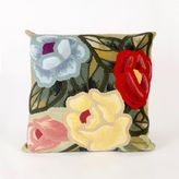 Liora Manné Visions III Crochet Flower 20-Inch x 20-Inch Throw Pillow in Multicolor