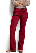 Classic Women's Petite Pre-hemmed Fit 2 Corduroy Boot-cut Pants-Burgundy Stripe