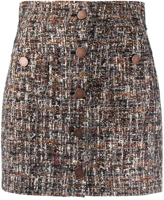 Tagliatore Embroidered Mini Skirt