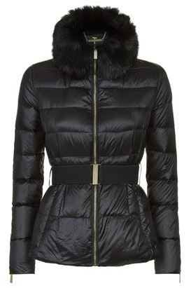 Ted Baker Junnie Faux Fur Collar Coat