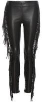 Saint Laurent Fringed leather trousers