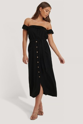 Trendyol Belted Buttoned Long Dress
