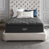 """Simmons Black C-Class 16"""" Plush Pillow Top Mattress and Box Spring Mattress Size: Queen, Box Spring Height: Low Profile"""
