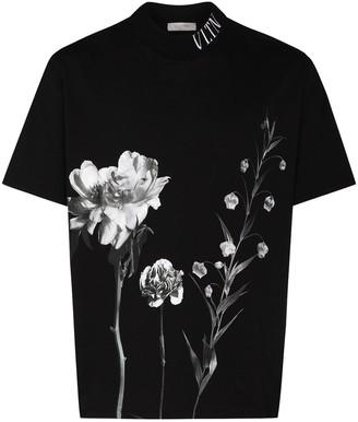 Valentino floral print detail T-shirt