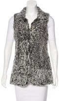 Theory Shearling Collared Vest
