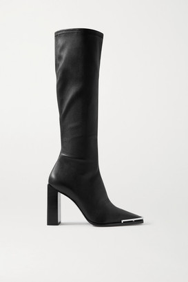 Alexander Wang Mascha Leather Knee Boots - Black