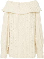 Marisa Witkin Off-Shoulder Wool and Cashmere Sweater