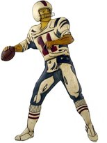 Firefly Home Collection Metal Football Player Wall Decor, 17 by 1 by 31-Inch
