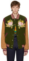 Gucci Multicolor Corduroy modern Future Bomber Jacket