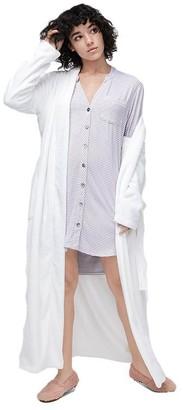 UGG Vivian Knit Sleepshirt - Stripe Lavender Aura / White, Large