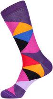 Jared Lang Triangle-Print Cotton-Blend Socks
