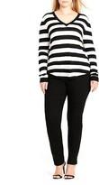Lauren Ralph Lauren Plus V-Neck High Low Sweater