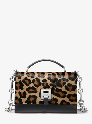 Michael Kors Bancroft Leopard Calf Hair Shoulder Bag