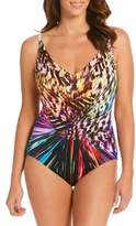 Longitude One-Piece Abstract Swimsuit