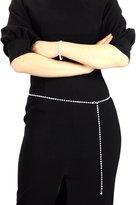 NYfashion101 Dressy Belly Single Row Rhinestone Belt Adjustable Size IBT2001