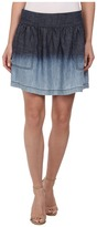 Michael Stars Linen Denim Tencel Skirt