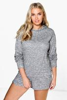 Boohoo Plus Layla Hoodie And Running Short Set