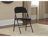Cosco Home And Office Vinyl Padded Folding Chair Home and Office Color: Black