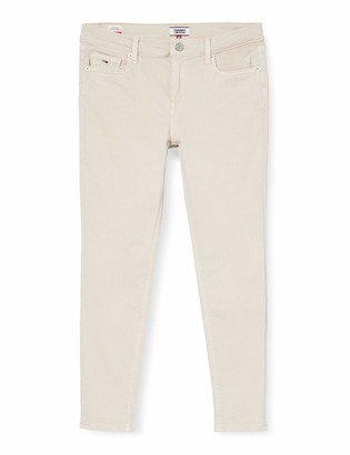 Tommy Jeans Women's Nora Mid Rise Skinny Ankle Pmc Straight Jeans