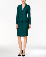 Le Suit Three-Button Twill Skirt Suit