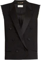 Saint Laurent Deconstructed peak-lapel wool gilet