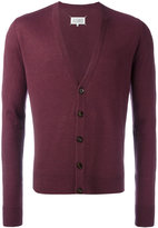 Maison Margiela knitted cardigan - men - Linen/Flax/Calf Leather/Wool - M